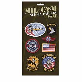 Mil-Com Kids Embroidered Badges Top Gun Style Fancy Dress