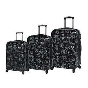 "Mia Toro ITALY Love This Life-Medallions Hardside Spinner Luggage 3 Piece Set [20"", 24"" & 28""]"