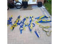 Fall arrestors, belts, harness etc