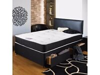 Brand New Double Divan Bed With Good Quality Medium Firm Orthopaedic Memory Foam Mattress.Cheapest
