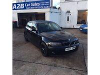 BMW 1 SERIES 118 BLACK MOT JUNE 2017 FSH