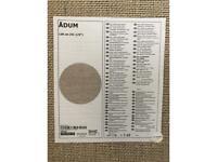 IKEA Adum round rug 130cm