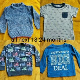 large designer clothes bundle 18-24 month boys