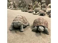 Stunning Pair of Stone Tortoise Garden Ornaments