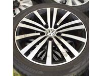 "17"" GENUINE VW MINNEAPOLIS B6/7 PASSAT SPORT / VW GOLF ALLOY WHEELS ALLOYS TYRES WHEELS RIMS"