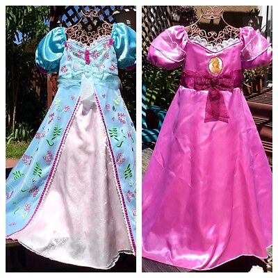 DISNEY PRINCESS GISELLE Enchanted REVERSIBLE CURTAIN DRESS COSTUME GIRLS M 7 8 - Princess Giselle Costume