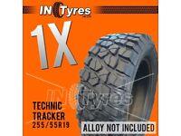 1x 255/55r19 Kingpin Technic Mud Terrain MT 255 55 19 Retread Tyres Like BFG