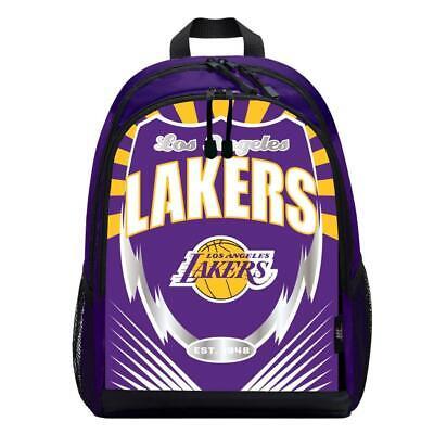 Los Angeles Lakers Lightning Style Backpack  NBA Sling Bag B