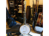 2014 Flinthill FHB 280A 5-string arch-top banjo, excellent condition and setup