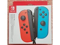 New Nintendo Switch Joy-Con Pair Neon Red/Neon Blue Controllers