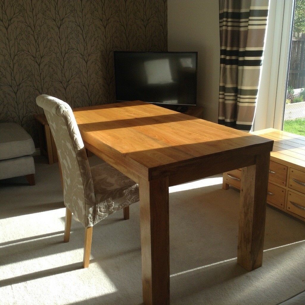 Solid wood 6 seater table