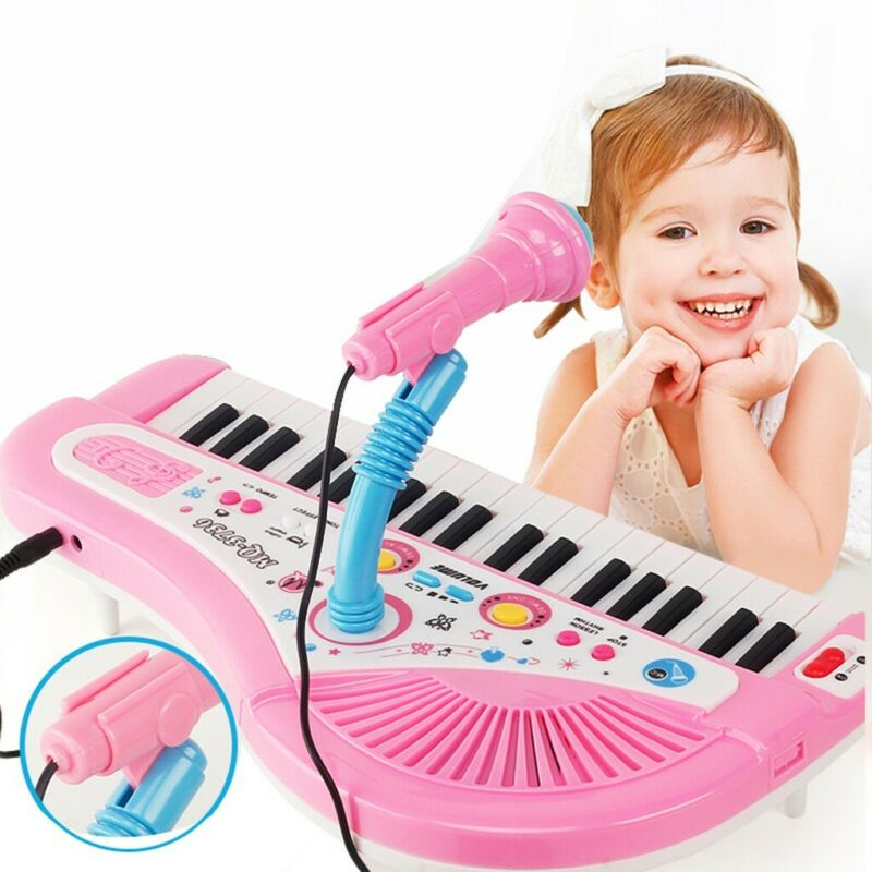 electronic piano with microphone kid 37 keys