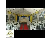 Throne chairs Hire/Wedding love Sofa Hire/ Gold pillars for hire/All Decor Items for Hire