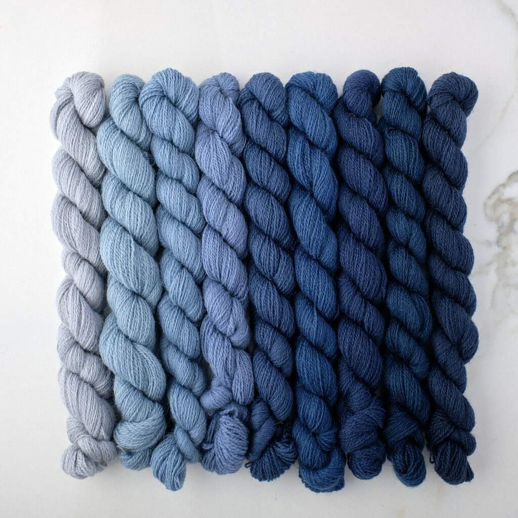 Appletons Crewel Wool Yarn Dull China Blue 921-929 - 180m Full Hanks - $4.99