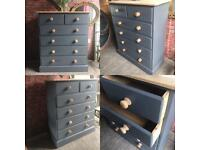 Solid pine professionally upcycled chest of drawers