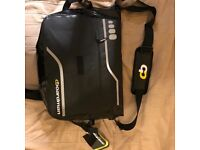 Boardman waterproof messenger bag with padded section for laptop. Motorbike scooter and bicycle fit