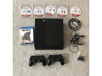 PS4 unboxed 6 games barely used excellent condition 2 controllers