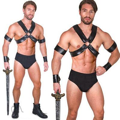 Gladiator Costumes Men (Mens Sexy Gladiator Roman Spartan Warrior Centurion Halloween Costumes Adult L)