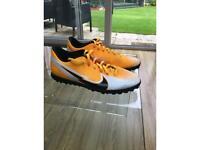 Nike men's mercurial vapor orange and white trainers