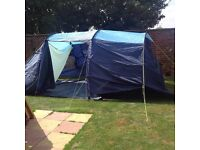 LICHFIELD 6 MAN TENT WITH 4 SLEEPING BAGS BRAND NEW