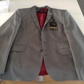 Mens next suit jacket slim fit
