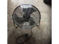 21 inch 3 speed chrome fan