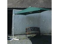 Very Large Green Cantilever Parasol. Brand New
