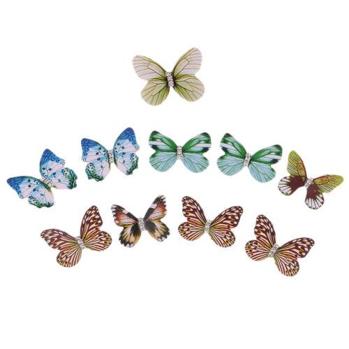 10 Mix Butterfly Wings Charms For Women Drop Earrings Hair J