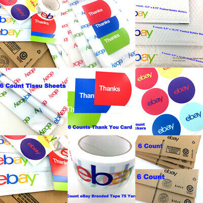 New Ebay Shipping Kit Lot Boxes Bubble Padded Envelopes Mailer Tape Tissue 49 Ct