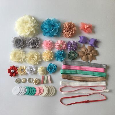 DIY Making Headband Kit Baby Shower Headband Stations Pink/Yellow/Blue/White - Diy Headband Kit