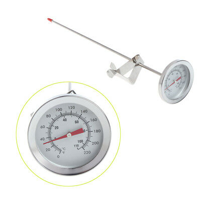 "12"" Stainless Steel Dial Thermometer Probe Homebrew Brew Kettle Temperature Meas"