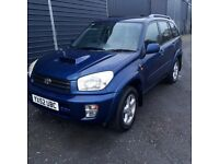 breaking blue toyota rav4 manual d4 diesel leather interior alloys low miles