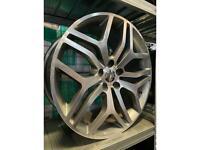 "20"" alloy wheels alloys rims tyres fits Vw Volkswagen transporter land Range Rover sport"