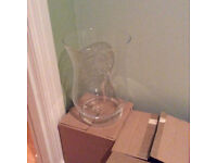 Boxed Hurricane Vase. Wedding centrepiece. Candle holder. 4 vases available. NOW REDUCED!