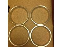 For metal silver rings from a classic car From a MG 1965 1600