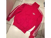Adidas red firebird jacket size xs