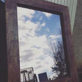 Large Reclaimed Mirror