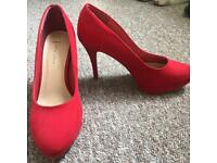 New Look Red Heels Size 7
