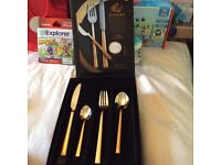 Viners 'The Dazzle Gold' Cutlery Set