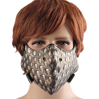 Motorrad Anti Staub Halbmaske mit Totenkopf Mustern (Halb-maske Maskerade)