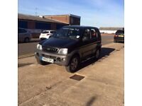 DAIHATSU TERIOS TRACKER 1.3 4WD BLACK 03 REG LONG MOT. DRIVES LOVELY. CHEAPEST AROUND