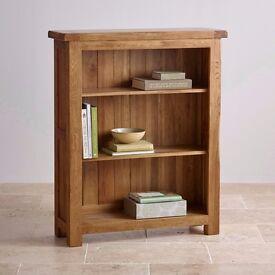 Solid oak bookshelf large for sale - bargain