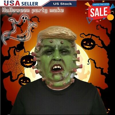 Halloween Creepy Scary Latex Mask Horror Costume Party Props Trump Cosplay Tool