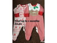 Next sleepsuit up to 1 month 2 set