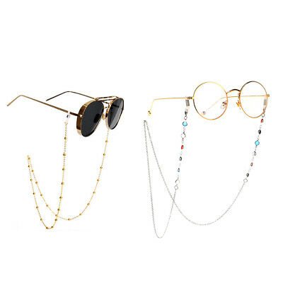 2Pcs Women Men Eyewear Sunglass Chain Rope Glasses Strap Neck Cord (Sunglass Straps For Men)