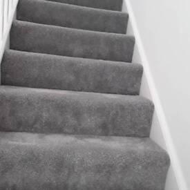 New silver grey carpet offcut 2.8m x 2 m
