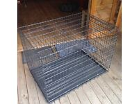 Dog Crate / Cage for large breed dog - Front & Side doors - Folds flat