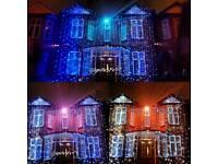Wedding led lights and gates