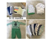 Baby boys clothes 9-12 months and 12-18 months, like new and never worn