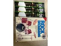Rock school drumming books, grade 1-3 and side book